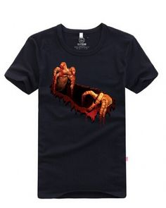 3D ghost hand short sleeve shirts funny shirt-