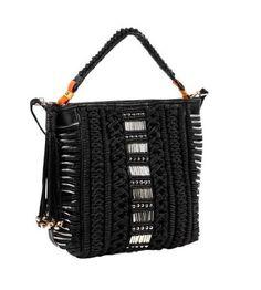 Nicole Lee Handbag Nigel Woven Purse - Black