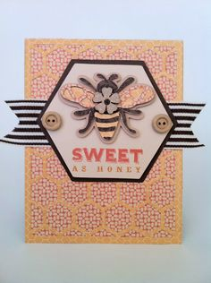 CTMH Buzz n Bumble card with honeycomb stamp set