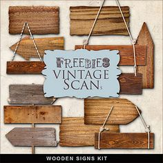 Freebies Wooden Signs Kit