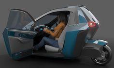 Μurban: Micro urbano 3-Wheel Concept Car de Ariel Marioni