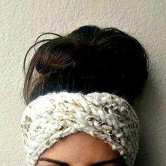 Glam Gold Leaf Turban #GoldFoil #WoolKnit