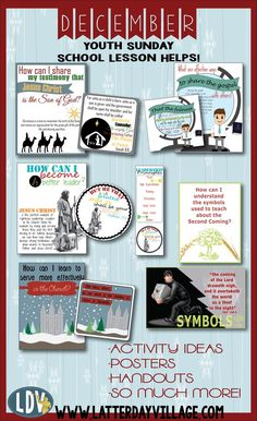"""DECEMBER lesson helps for """"Building the Kingdom of God in the Latter Days"""" Object lesson ideas, activity ideas, handouts and much more! Sunday Activities, Young Women Activities, Lds Sunday School Lessons, Brick Store, Lds Youth, Personal Progress, Visiting Teaching, Object Lessons, Latter Days"""