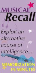 MUSICAL RECALL -- Sing It... to Learn It... -- Welcome Parents and Teachers