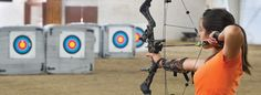 Sarah Robles, 15, from Rye, takes aim at targets during the Pueblo County Fair archery competition held at the Colorado State Fair Livestock pavilion. (Chieftain photo by John Jaques, July 7, 2012)