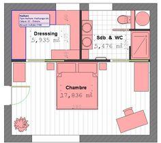 Plan Suite Parentale Avec Salle De Bain Et Dressing #4 - Plan Suite Parentale