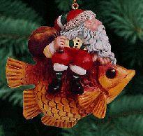 The Art of James Christensen  Santa on a fish