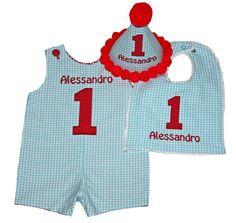 aqua blue red birthday shortall, boys aqua birthday outfit