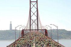A 24 de de Março realiza-se a Meia Maratona de Lisboa, num percurso que atravessa a Ponte 25 de Abril. | Lisboa | Escapadelas ®