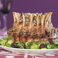 Crown Roast with Wild Rice Stuffing Recipe -My mom made this tender, juicy crown roast for Christmas once. It was an impressive and memorable change from traditional stuffing. —Christine Frazier, Auburndale, Florida