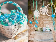blue wedding decor | apulia wedding inspiration shoot | see more on http://weddingwonderland.it/2014/02/matrimonio-italoamericano-in-puglia.html