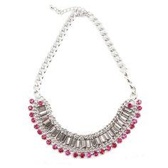 Fuchsia Crystal Necklace