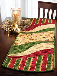 This table runner and place mat pattern is perfect for all those large-scale prints that have been giving you that come-hither look.