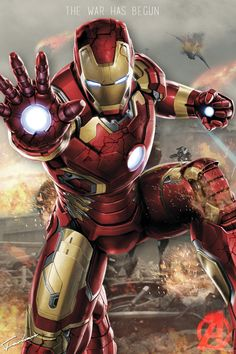 #Iron #Man #Fan #Art. (Avengers Iron Man Poster HD) By: Junkyard. ÅWESOMENESS!!!