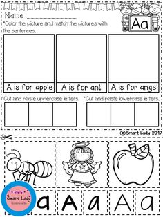 Alphabet Cut and Paste Set 2.   Your students will have fun learning to write their letters with this 26 page packet of activities. Each page represents a letter of the alphabet and has many opportunities for students to practice letter formation and writing their letters.