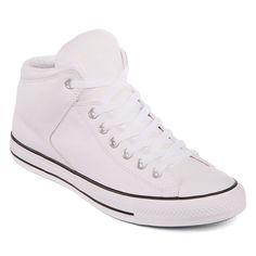 Converse Mens Lace-up Sneakers, Color: White Black White - JCPenney Sneakers Box, High Top Sneakers, Top Shoes, Men's Shoes, Sneaker Brands, Shoe Collection, Chuck Taylor Sneakers, Converse Shoes, Sneakers Fashion