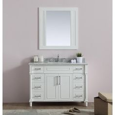 Shop for Continental Collection 48-inch Marble Top Single Sink Vanity. Get free delivery at Overstock.com - Your Online Home Improvement Outlet Store! Get 5% in rewards with Club O!