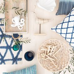 The Wicker House: Blue and White Inspiration from Target Style
