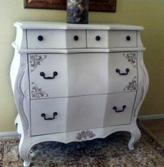 French Chic Bombay Chest Dresser by Sarabellatreasures on Etsy, $350.00