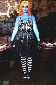 """Mihelle Trachtenberg. """"muñeca estilo Tim Burton"""". Los disfraces para halloween de las celebrities"""