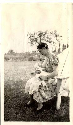 Motherhood, via Flickr. Vintage breastfeeding photo  uploaded by lloydboy52