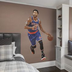 New York Knicks Derrick Rose Wall Decal by Fathead, Multicolor