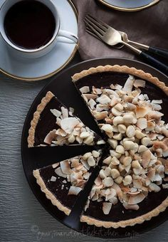 Chocolate, Coconut And Macadamia Nut Tart