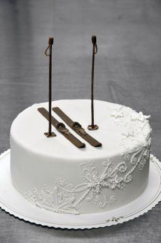 Skiing cake by My Michaela Salminen