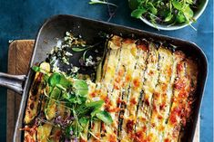 This lasagne is made with layers of zucchini instead of pasta, with a zesty ricotta sauce. The perfect addition to any dinner table. Vegan Dinner Recipes, Vegan Dinners, Raw Food Recipes, Veggie Recipes, Pasta Recipes, Vegetarian Recipes, Cooking Recipes, Healthy Recipes, Vegetable Lasagne