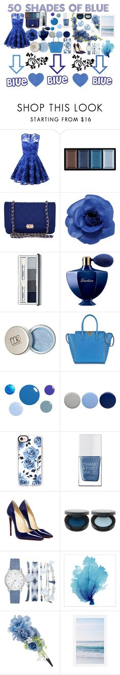 """50 Shades of Blue 💙💙💙💙💙"" by emilyg-5 ❤ liked on Polyvore featuring Clé de Peau Beauté, Chanel, Clinique, Guerlain, Valentino, Burberry, Casetify, The Hand & Foot Spa, A.X.N.Y. and Accessorize"