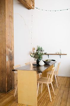 that table & those chairs... | HOW THE FASHION DESIGNER / STYLIST LIVES | 79 Ideas