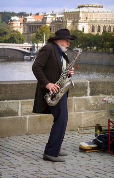 On the bridge - Prague. Saxophone Players, Visit Prague, Street Musician, Charles Bridge, World View, Central Europe, Travel Memories, My Heritage, Eastern Europe