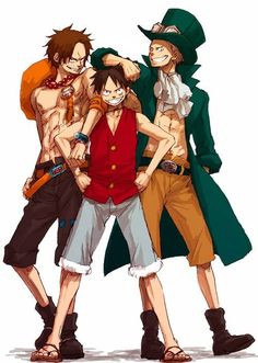 ASL brothers Monkey D. Luffy, Portgas D. Ace, and Sabo One piece One Piece Manga, One Piece Ace, Manga Anime, Anime One, Me Me Me Anime, Anime Stuff, Anime Guys, Tony Tony Chopper, Anime Characters