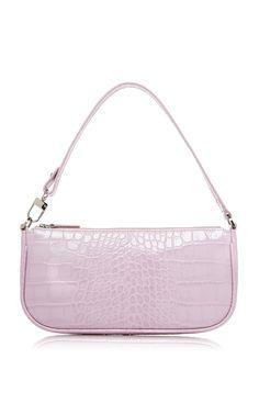 Rachel Croco Embossed Leather Bag by BY FAR for Preorder on Moda Operandi Popular Handbags, Trendy Handbags, Vintage Handbags, Fashion Handbags, Fashion Bags, Cheap Handbags, Handbags Online, Wholesale Handbags, Popular Bags