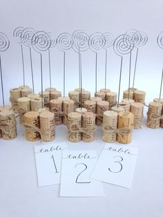 Table Number Holder or Sign Holder with Rustic Jute Twine #weddingdecoration