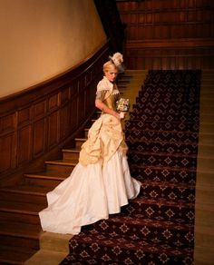Steampunk Wedding Dress/ bustle skirt, corset, hat - Fairytale, Victorian, Edwardian, Adventurer, Explorer, Clockwork, Airship, Pirate wench by OohLaLaBoudoir on Etsy https://www.etsy.com/listing/74967980/steampunk-wedding-dress-bustle-skirt