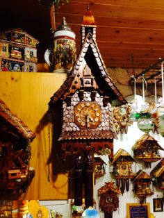 This beautiful hand made cuckoo clock from the Black Forest is now on its way to number 13...by ship, I will have to wait 6 weeks or so.... And Mr M got two beautiful steins!  But he can enjoy a beer out of them as soon as we get home to the heat!
