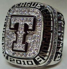 2010 Texas Rangers MLB World Series Championship Replica Rings
