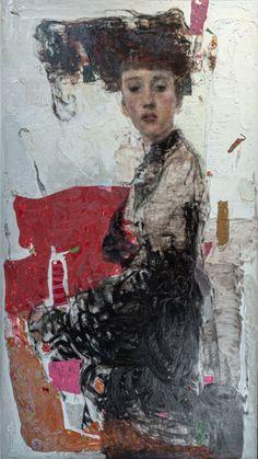 Large Painting, Figure Painting, Painting & Drawing, Painting People, Art Noir, Human Art, Portrait Art, Portraits, Silhouette