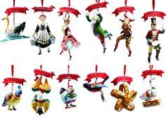 Twelve Days of Christmas Ornaments.