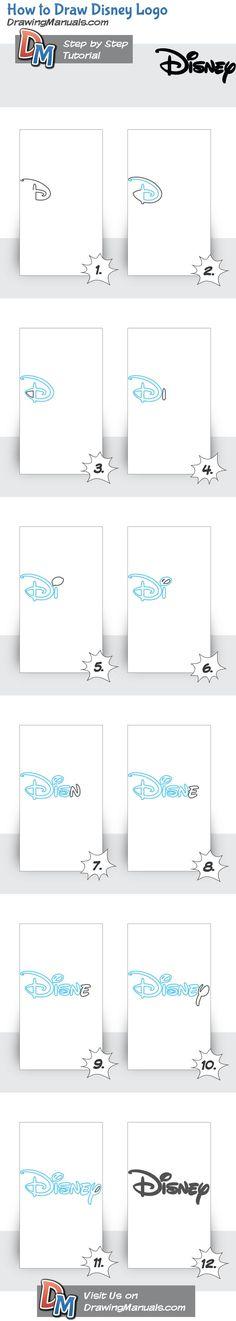 How to Draw Disney Logo