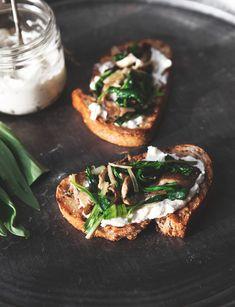 Ramp, Mushroom + Homemade Ricotta Tartine — a Better Happier St. Sebastian