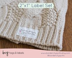 Set of fabric labels, personalized gift for Mom, iron on or sew on tag set, quilt labels, craft show, branding tags, knitting's gift - LS13 Sewing Labels, Fabric Labels, Quilt Labels, Iron On Labels, Personalized Gifts For Mom, Thing 1, Fabric Yarn, Free Knitting, Custom Fabric