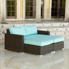 Have to have it. Source Outdoor Lucaya All-Weather Wicker Double Chaise Lounge $3050