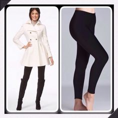 Black Fleece Lined Leggings Perfect wardrobe staple, comfy and cozy black fleece lined leggings Pants Leggings
