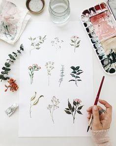 Botanical watercolor prints clearanced this weekend for Black Friday!