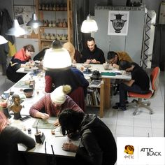 ATTIC BLACK features iconic, handmade pottery showcasing the Grecian heritage & culture. Handmade Pottery, Attic, Greek, Crafty, Studio, Black, Home Decor, Loft Room, Decoration Home