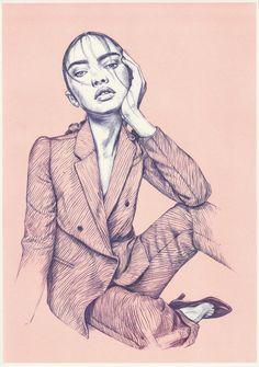 riso print Fashion Prints, Fashion Art, Paper Dimensions, Orange And Purple, Pencil Drawings, Wall Art Prints, Original Artwork, Colours, Illustration