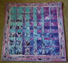 Hand Dyed Convergence Art Quilt by sharonjenkins1 on Etsy, $70.00    Ty A!  A fascinating quilting technique check out Ricky Tim's books on harmonic convergence quilts