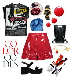 """""""I see red"""" by rows84 on Polyvore featuring Valentino, Topshop, Urban Decay, Marc Jacobs and Gucci"""